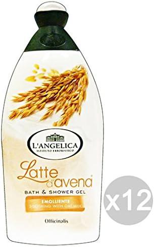 Juego 12 L Angelica baño leche de avena 500 ml Producto baño y ducha: Amazon.es: Belleza