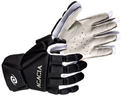 Acacia Titan Broomball Gloves, Black/White, X-Large -