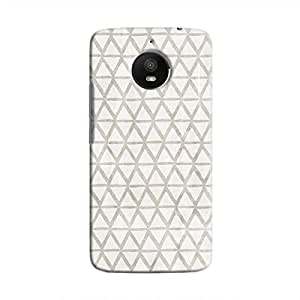 Cover It Up - Triangle Print Grey Moto E4 Plus Hard Case