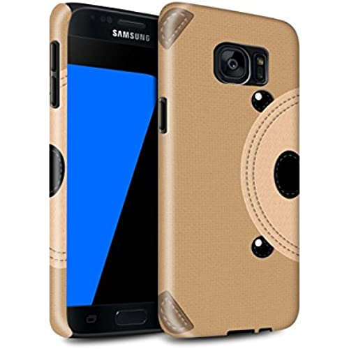 STUFF4 Gloss Tough Shock Proof Phone Case for Samsung Galaxy S7/G930 / Bear Design / Animal Stitch Effect Collection Sales