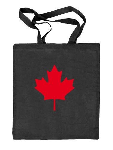 Shirtstreet24 CANADA/KANADA - Bolso de tela de algodón para mujer negro - schwarz natur