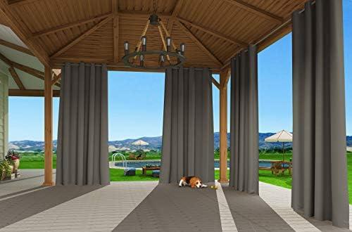 Favorit Clothink Outdoor Vorhänge mit Ösen 132x215cm Grau - Winddicht WC12