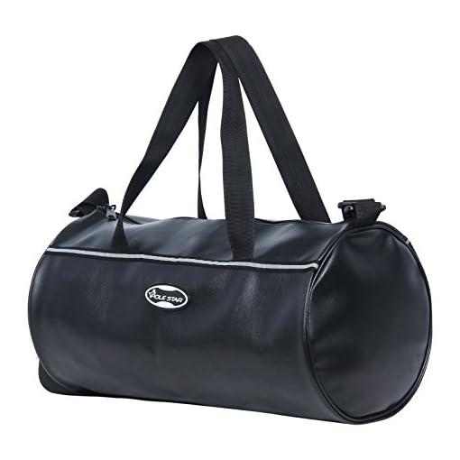 POLESTAR Leatherette26 Lts Black Duffel Gym Bag Backpac