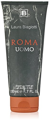 Laura Biagiotti Roma Uomo Shower and Bath Gel for Men, 6.7 fl. oz. (Roma Links)