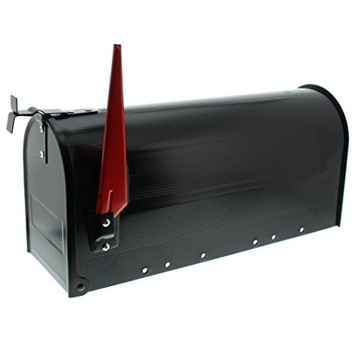 BURG-WÄCHTER, US-Mailbox mit schwenkbarer Fahne, Aluminium, 891 S, Schwarz