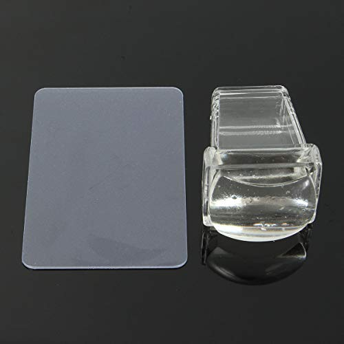 Clear Soft Silicone Nail Stamping Template Printer Scraper Image Plate Transfer Tools Design - Nail Tools Nail Stamping Template & Printer