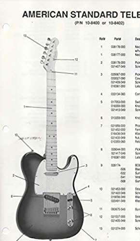 parts list diagram for fender american standard telecaster electric rh amazon com