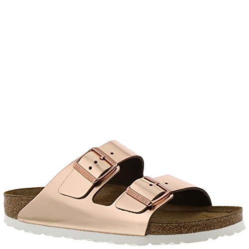Birkenstock Arizona White Copper Soft Footbed Leather Sandal 40 N (US Women's 9-9.5)