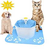 Cat Water Fountain Pet Fountain Cat Water Dispenser Healthy Hygienic Drinking Fountain Super Quiet Flower Automatic Electric Water Bowl with 3 Different Water Flow for Dogs Cats Birds Small Animals