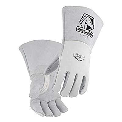 Black Stallion 750 Premium Grain Elkskin Stick Welding Gloves, Large - Welding Safety Gloves - .com
