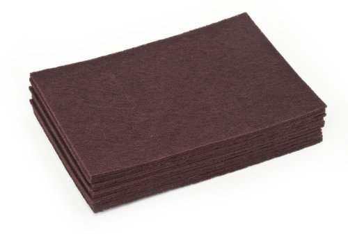 Clarke 30730A Commercial 12 X 18 Inch Maroon Surface Prep Pad, Case of 10