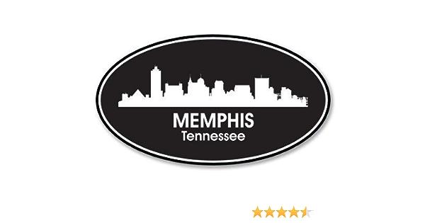SELECT SIZE Memphis Tennessee Oval Car Laptop Phone Vinyl Sticker