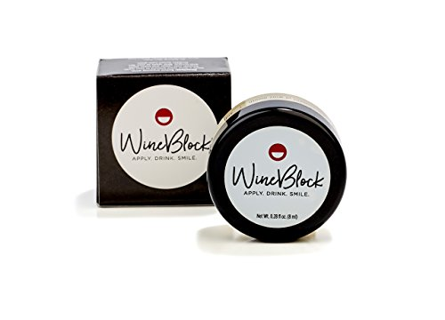(WineBlock Red Wine Stain Preventing Lip & Teeth Balm - 30 Applications)