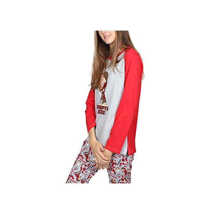 41ay8 8D7LL Pijama de punto de algodón, de manga larga, pantalón largo y cuello redondo. La camiseta es de punto vigoré, de color gris jaspe con mangas a contraste y detalle en glitter personalizado de la marca DISNEY. Tshirt: 95% Cotton/co 5% Polyester/pes Trousers: 100% Cotton/co