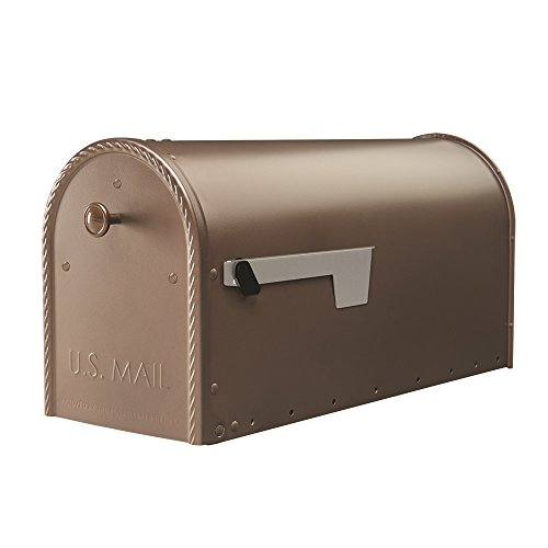 Gibraltar Mailboxes Edwards Large Capacity Galvanized Steel Venetian Bronze, Post-Mount Mailbox, EM160VB0