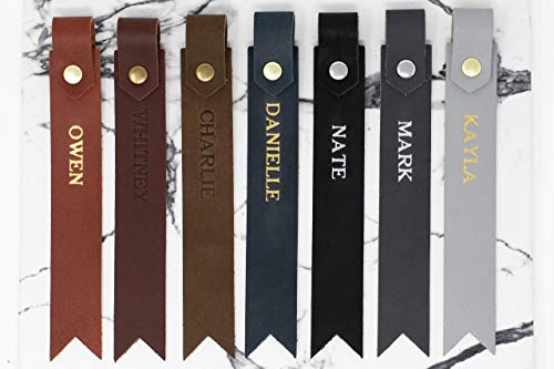 Northwind Personalized Leather Bookmark Handmade - Perfect Bookmarks for Men Women and Kids - Monochrome Leather Bookmark - Custom Bookmark - Book Mark Gifts for Writers and Book Lovers.