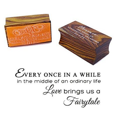 Love Brings Us A Fairytale Quote Stamp Custom Wood Mounted (Fairy Tale Stamp)