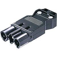 Conector GST18/3 Macho Tornillo Plano Negro