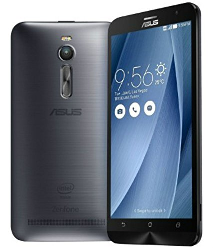 ASUS ZenFone 2 ZE551ML 4GB RAM / 64GB ROM 5.5-Inch 2G / 4G Dual SIM Factory Unlocked International Stock No Warranty (Gray/Silver)