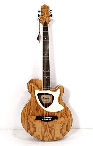 Acoustic Electric Cutaway Guitar, Thin Body, Built-In Tuner ()