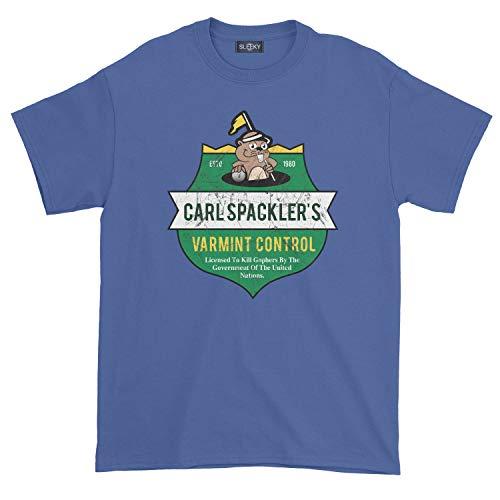 Men's Carl Spackler Varmint Control T-Shirt (2XL, Royal Blue)]()