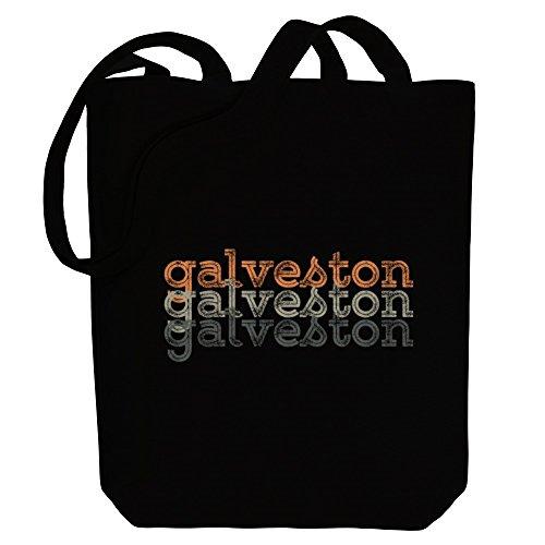 Idakoos Galveston repeat retro - US Städte - Bereich für Taschen