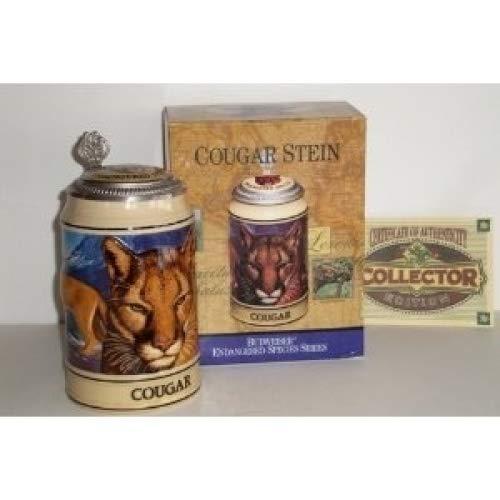 Stein Lidded Tall - 1995 Budweiser Endangered Species Series, Lidded Beer Stein, Cougar