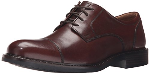 Johnston & Murphy Men's Tabor Cap Toe Oxford, Brown Calfskin, 11 M US from Johnston & Murphy
