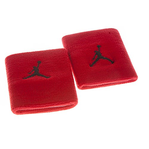 Jordan Jumpman Wristbands 2pk Athletic Sport Team Nike Red/black Bred 519604-695 - 2 Pack Team Wristband