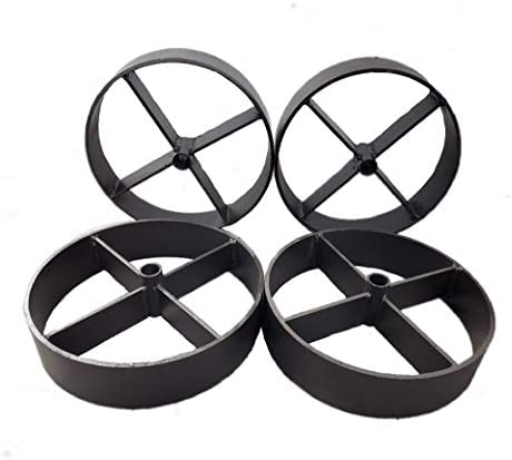 Helotes Pits 10.75 Steel Wagon Wheel for Barbecue Pit 4, 10.75 Set of 4