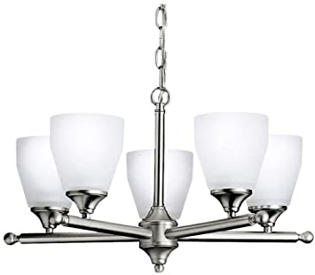 Kichler 1748NI Ansonia Chandelier 5-Light, Brushed Nickel