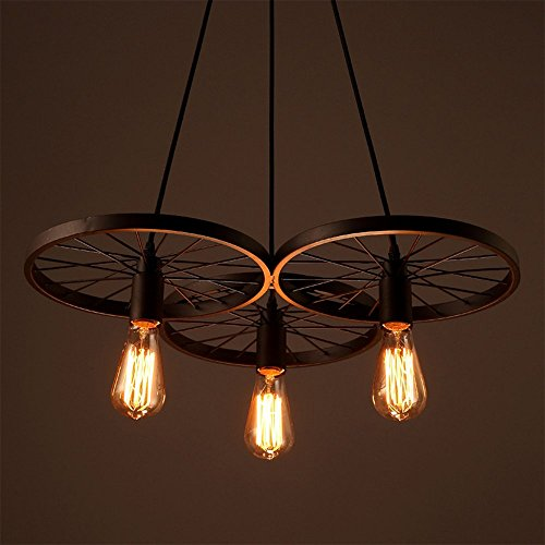 Lixada Vintage Glass Wall Sconces Adjustable Industrial Edison Wall Lamps Retro Wall Bedroom Stair Mirror Lamps E26/E27 Base (Metal)