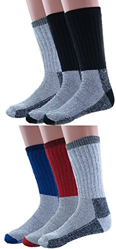 Mens-Thermal-Socks-Heavy-Extreme-Cold-Weather-Boot-Socks-6-pack-By-DEBRA-WEITZNER