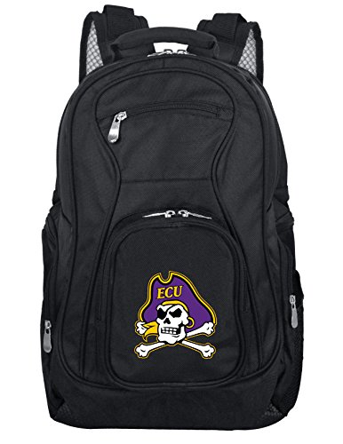 Denco NCAA East Carolina Pirates Voyager Laptop Backpack, 19-inches, Black