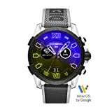 Diesel On Men's Full Guard 2.5 Touchscreen Stainless Steel and Nylon Smartwatch, Black and Yellow Iridescent crystal-DZT2012