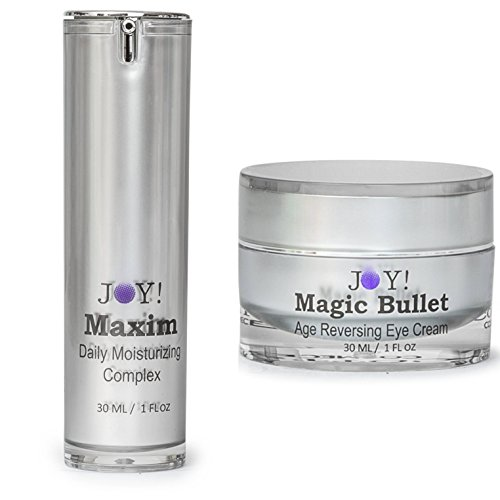 JOY! Magic Bullet & Maxim Duo America's Best of 2017. Age Reversing Eye Cream. Face and Neck Moisturizing Complex. Repair Wrinkles, Puffiness, Dark Circles and Bags. 60 Day Supply