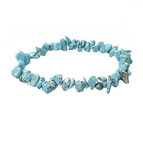 Gemstone Stretch Cuff Bracelet Braided Birthstone Celestial Chunky Chakra Bracelet Handmade Jewelry for Women Teen