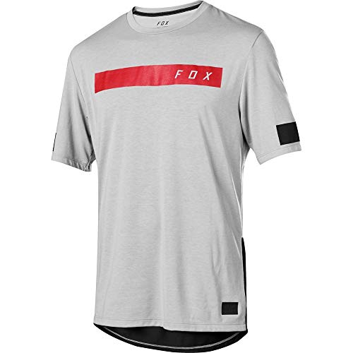 Fox Racing Ranger Dri-Release Bar Short-Sleeve Jersey - Men's Steel Grey, XXL