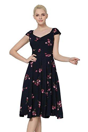 Numero Rosse Moda Rose 20 Dimensioni Navy Scuro Rosa E Vestito 8 S Dolce Cuore 9 Di 5xl Da qrIEr