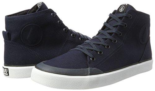 Mens FI Fashion Navy Skate Top HI Vulcanized Shoe Volcom vdHqv