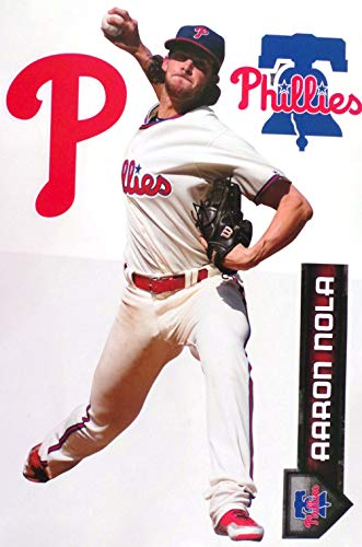 Aaron Nola FATHEAD TEAMMATE Graphic Philadelphia Phillies Logo Set Official MLB Vinyl Wall Graphics 17