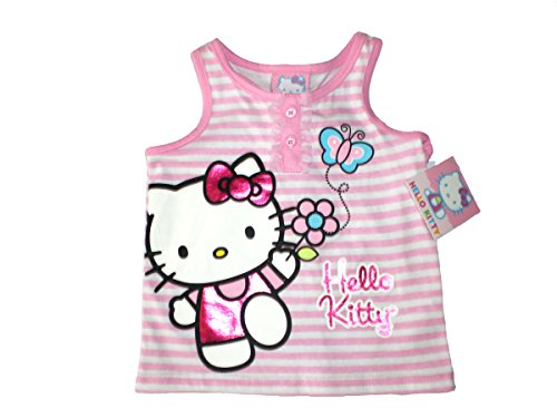 Hello Kitty - Baby Girls Summer Outfit w/Short, 1 Set, Pink, Size 24 Months ()