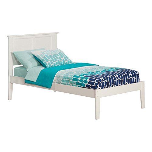 Madison Open Foot Bed, Twin X-Large, White
