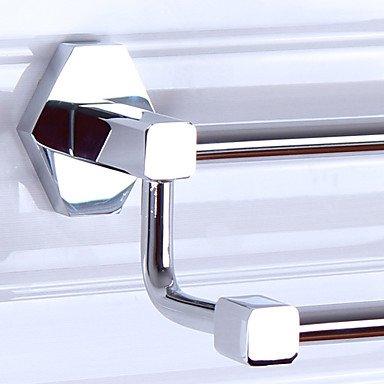 Moderno Sexangle con barras dobles de toallas de baño Rack: Amazon.es: Hogar