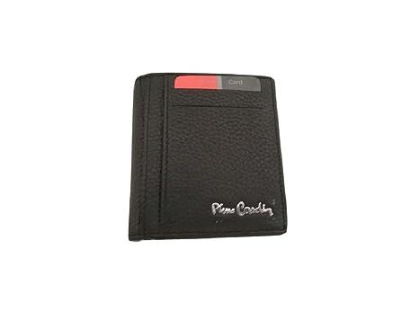 7d7340f66b Portafoglio uomo PIERRE CARDIN nero con ferretto ferma banconote e  portamonete a pozzetto