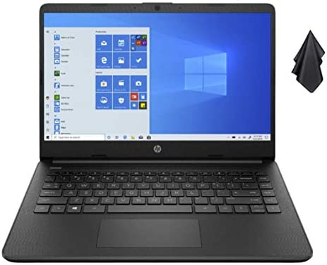 2021 Newest HP Stream 14-inch HD Non-Touch Laptop, Intel 2-Core N4020 as much as 2.8 GHz, 4 GB RAM, 64 GB eMMC, WiFi, Webcam, Bluetooth, Windows 10 S with Office 365 for 1 Year, Black + Oydisen Cloth