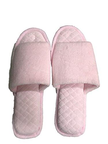 Dearfoams Open Toe Velour Womens Pink Fresh Scuff Slippers 6wq6cOfSCP