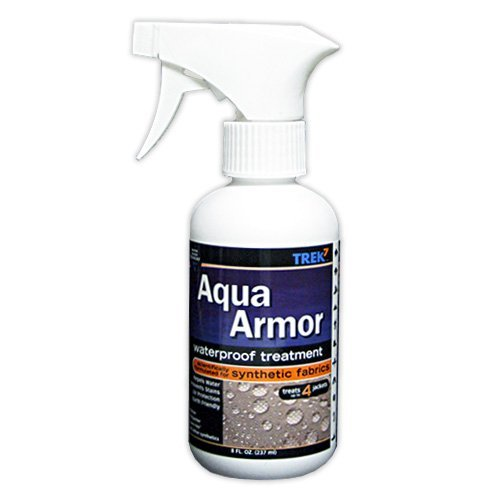 Trek7 Aqua Armor Fabric Waterproofing Spray for Synthetic Fabrics, 8 Oz