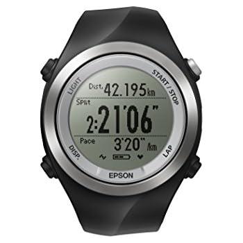 Epson Runsense SF-710 GPS Watch, Black/Silver