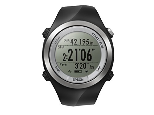 Epson Runsense SF 710 GPS Watch, Black/Silver